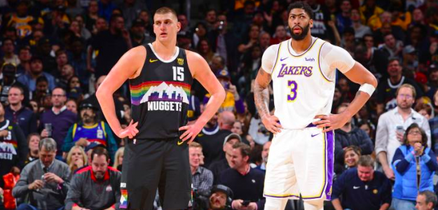Anthony Davis y Nikola Jokic en un Lakers-Nuggets de la presente temporada.