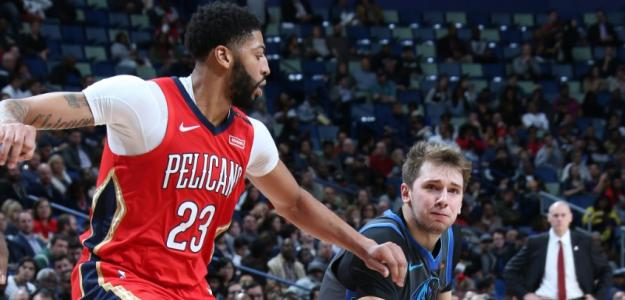 Anthony Davis y Luka Doncic, jugadores de New Orleans Pelicans y Dallas Mavericks
