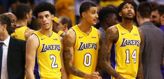 Lonzo Ball, Kyle Kuzma y Brandon Ingram, estrellas de los Lakers.