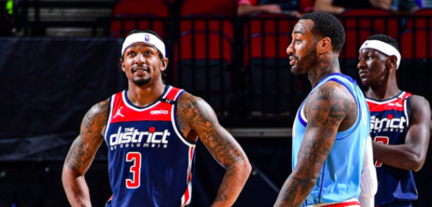 Bradley Beal y John Wall, compañeros eternos en Washington Wizards.