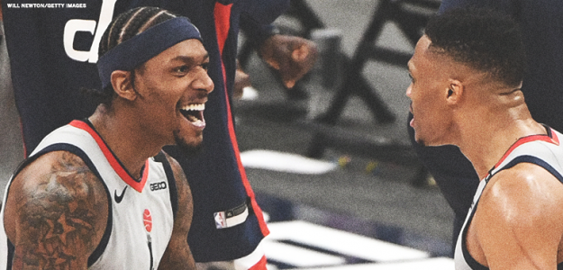 Bradley Beal y Russell Wesbrook, estrellas de Washington Wizards.