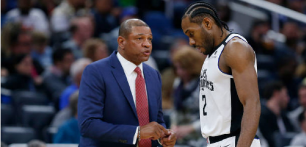 Doc Rivers y Kawhi Leonard. Foto: gettyimages