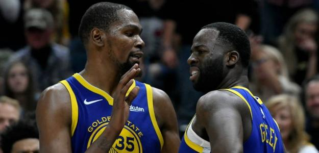 Draymond Green y Kevin Durant, jugadores de Golden State Warriors.