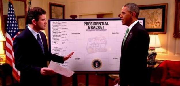 Barack Obama pronosticando el March Madness 2013