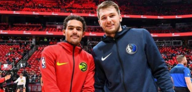 Trae Young y Luka Doncic | Foto: getty images