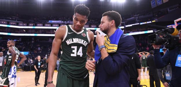 Curry fue captado intentando convencer a Giannis de que se una a ellos. Foto: nba.com