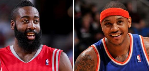 James Harden y Carmelo Anthony/allsportnewspr.com