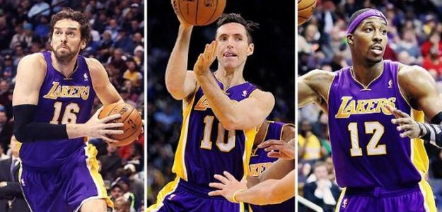 Pau Gasol, Steve Nash y Dwight Howard. Foto: ESPN