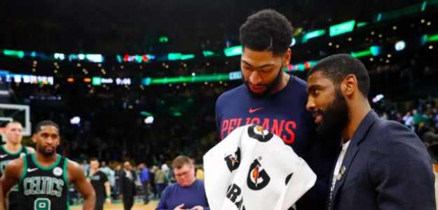 Kyrie Irving y Anthony Davis.