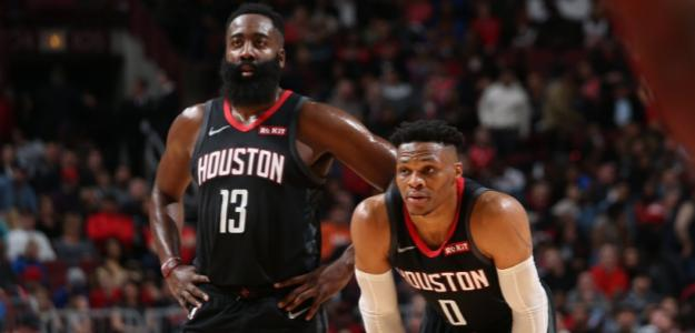 James Harden y Russell Westbrook, jugadores de Houston Rockets.