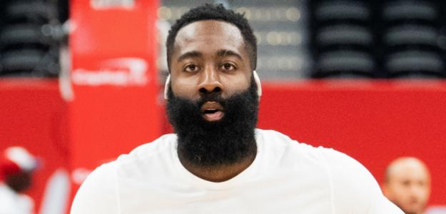 James Harden en un partido de los Houston Rockets.