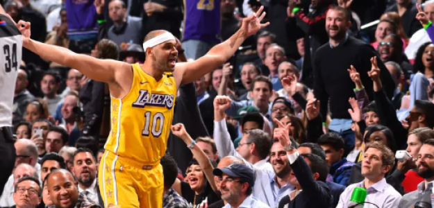 Jared Dudley, con la camiseta de Los Angeles Lakers.