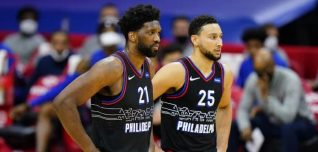 """Joel embiid y Ben Simmons durante un encuentro con Philadelphia Sixers """"Foto: Sir Charles In Charge"""""""