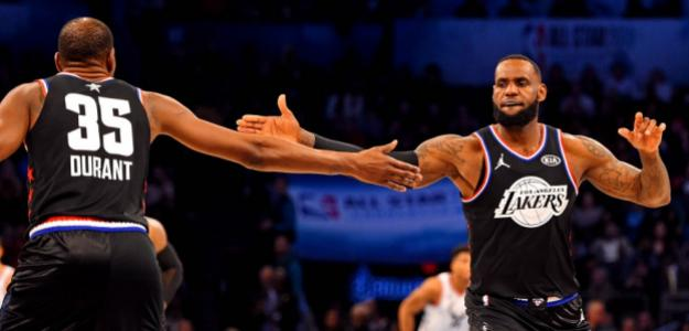 Kevin Durant y LeBron James, en el All-Star de Charlotte