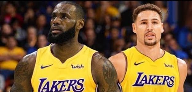 Lebron James y Klay Thompson, estrellas de la NBA