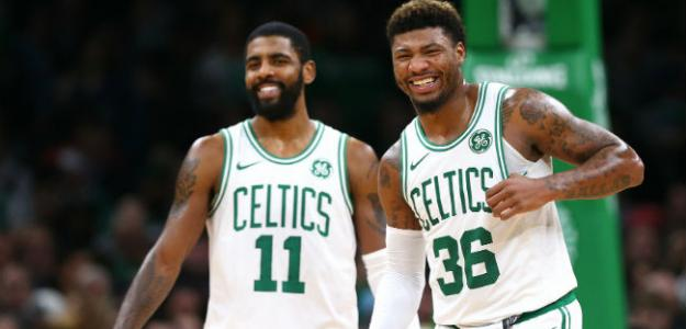 Kyrie Irving y Marcus Smart | Foto: getty images