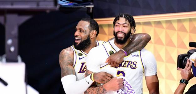 LeBron James y Anthony Davis en Los Angeles Lakers.