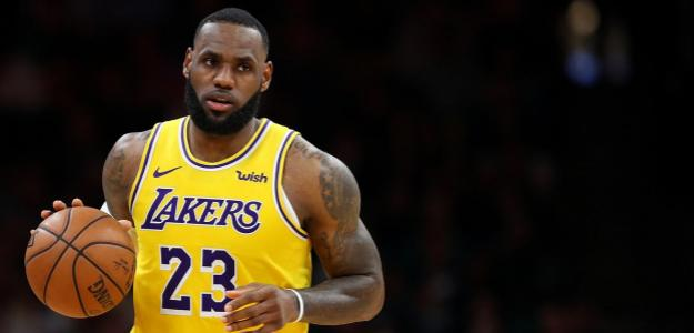 Lebron James jugador de Los Angeles Lakers.
