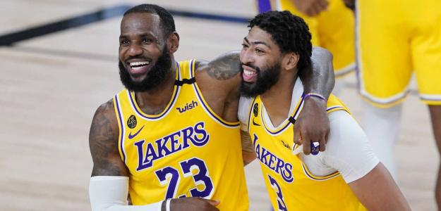 Lebron James y Anthony Davis muestran respeto por Denver Nuggets. Foto: gettyimages