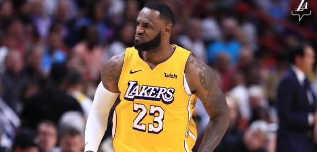 LeBron James, jugador de Los Angeles Lakers.
