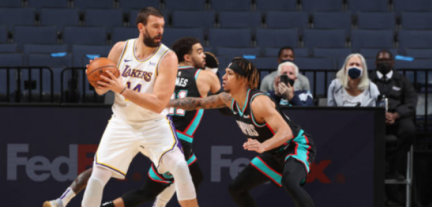 Marc Gasol encuentra ritmo en Lakers. Foto: gettyimages