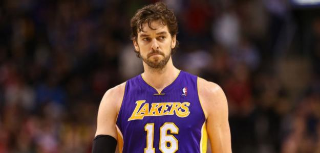 Pau Gasol en un partido con Los Angeles Lakers.
