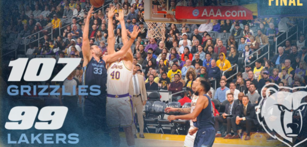 Marc Gasol y sus Grizzlies batieron a LeBron James y sus Lakers.