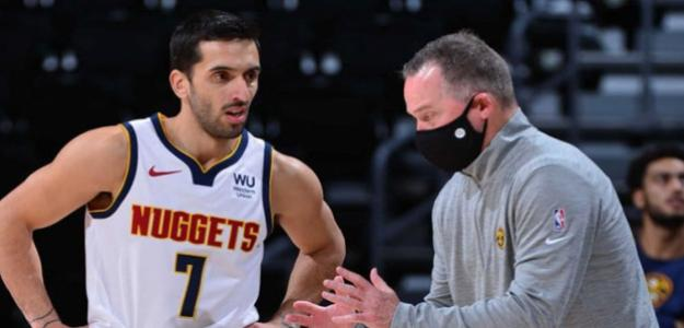 Michael Malone, rotación incomprensible con Facundo Campazzo. Foto: gettyimages