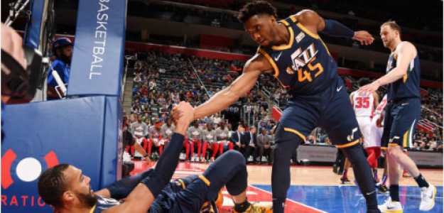 Donovan Mitchell y Rudy Gobert buscan reconciliarse. Foto: gettyimages