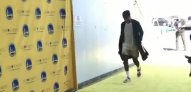 Nick Young, entrendo en el Oracle Arena de Oakland.