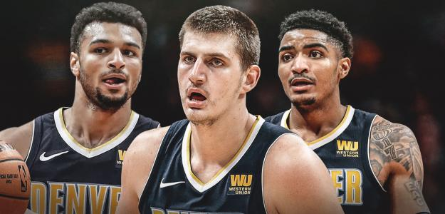 Murray, Jokic y Harris, jugadores de Denver Nuggets
