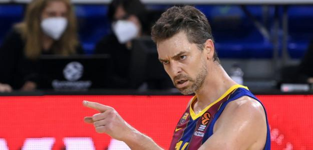 Pau Gasol en su debut esta temporada en la EuroLeague.