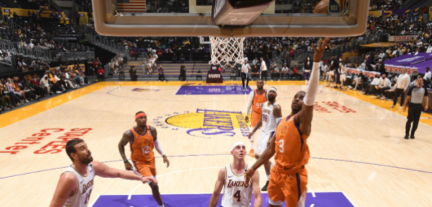 Phoenix Suns gana a Los Angeles Lakers tercer partido. Foto: gettyimages