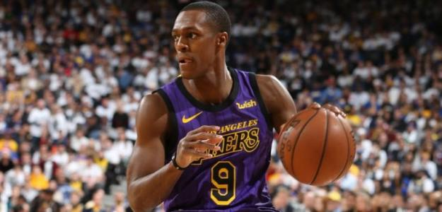 Rajon Rondo, jugador de Los Angeles Lakers.