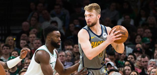Sabonis y Brown en un Celtics-Pacers.