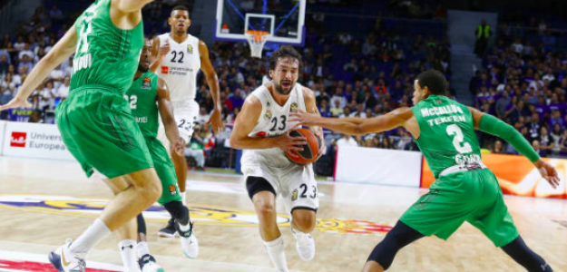 Sergio Llull, en plena penetración. Foto: Getty
