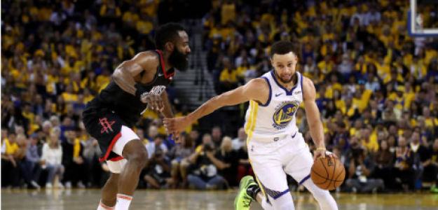 Stephen Curry y James Harden, a la caza de Ray Allen como máximo anotador de triples de la NBA. Foto: gettyimages
