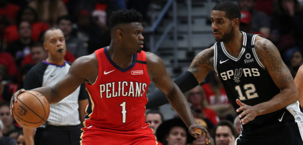 Zion Williamson, estrella de New Orleans Pelicans.